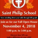 Fall Open House – November 4th
